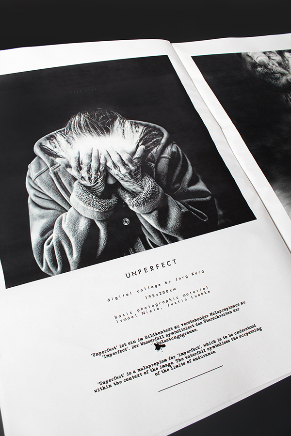 Jorg Karg | Newspaper about Digital Collage Series 'New Work.' 2016